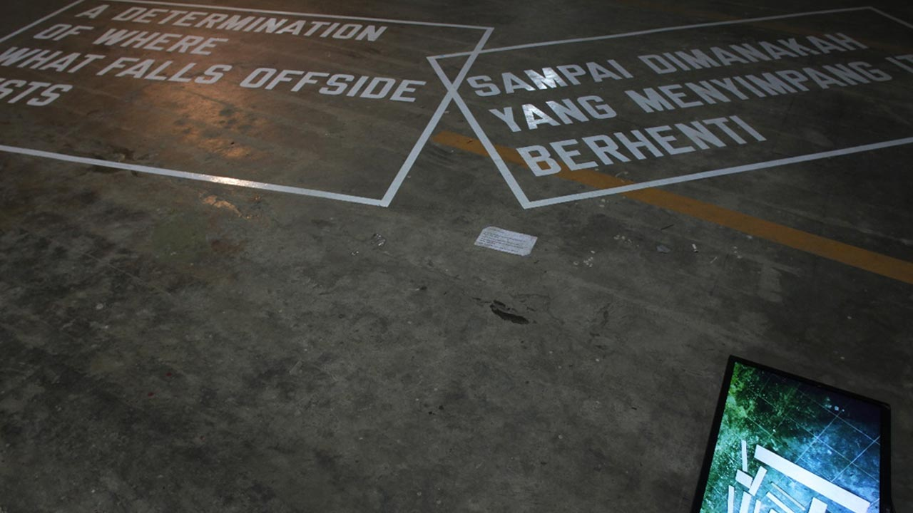 Tranzit-Lawrence Weiner, 'Encylopedia of Failure', project presentation, various dimensions, Jakarta Biennale 2013
