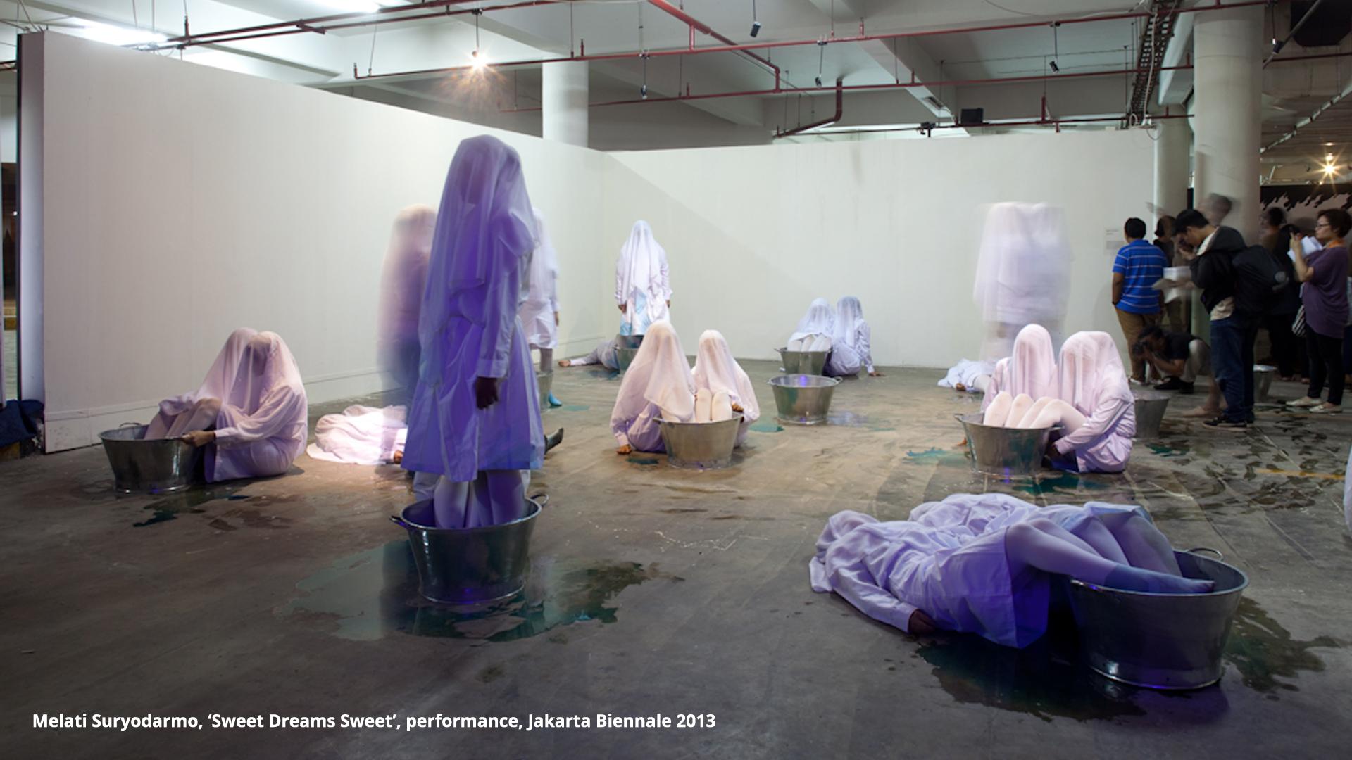 Melati Suryodarmo, 'Sweet Dreams Sweet', performance, Jakarta Biennale 2013